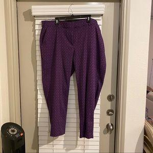 Lane Bryant Purple slacks - ankle pant